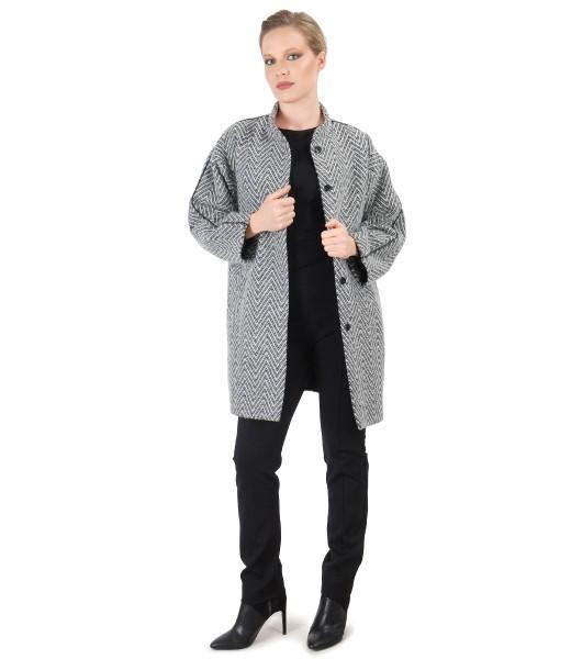 Tinuta eleganta cu jacheta si pantaloni pana