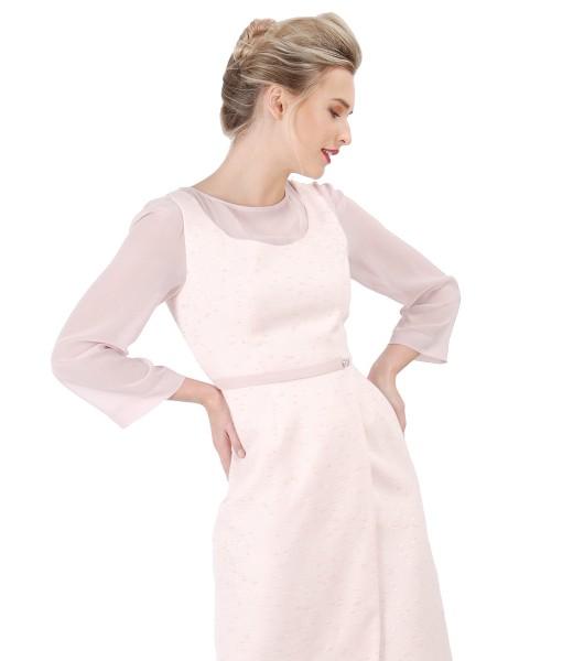 Rochie eleganta cu maneci din voal