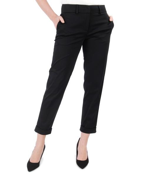 Pantaloni eleganti din bumbac elastic