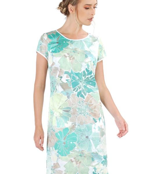 Rochie din bumbac imprimat cu motive florale