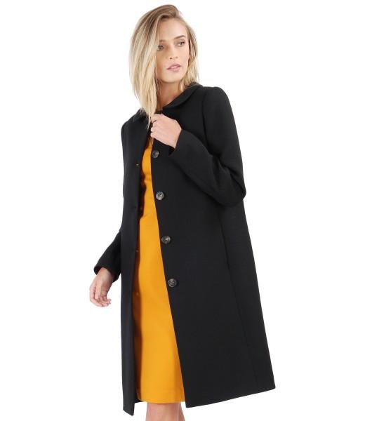 Jacheta eleganta cu guler rotund