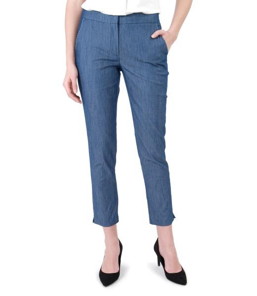 Pantaloni din denim cu cusatura decorativa