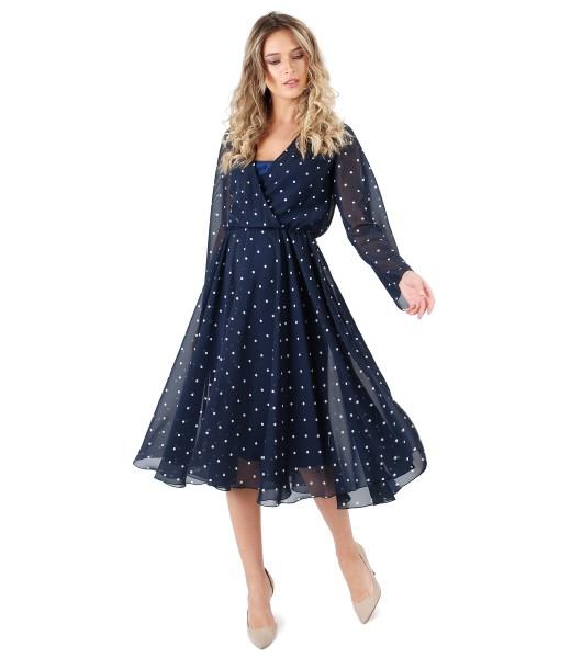 Rochie din voal imprimat cu picouri