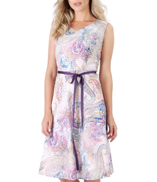 Rochie eleganta din bumbac imprimat
