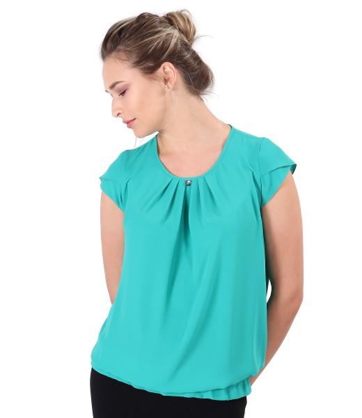 Bluza eleganta cu falduri pe fata