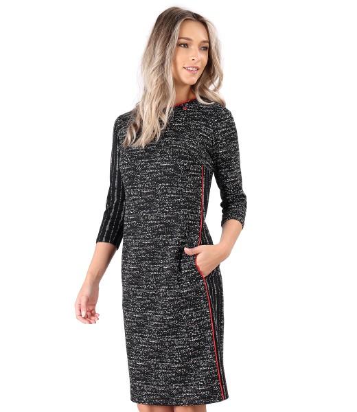 Rochie midi din jerse elastic gros