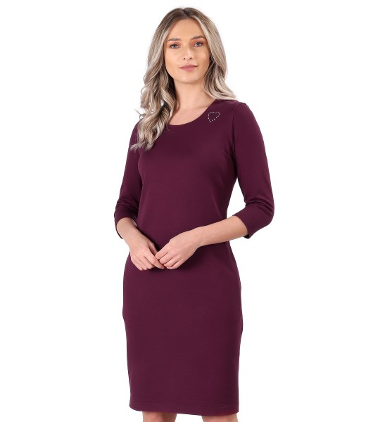 Rochie midi din jerse elastic flausat