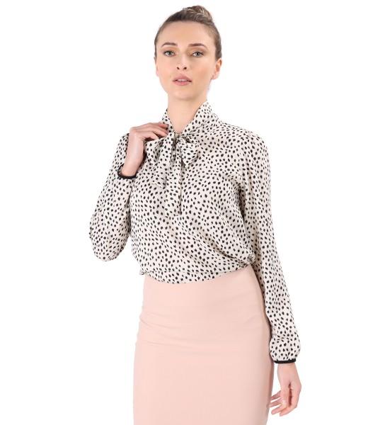 Bluza eleganta din viscoza cu guler tip esarfa