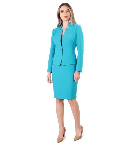 Costum dama office cu sacou si fusta creion