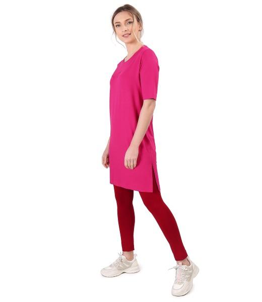 Tinuta casual cu rochie lejera din jerse elastic si colanti