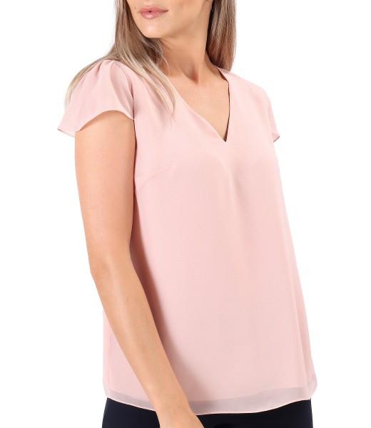 Bluza eleganta din voal uni