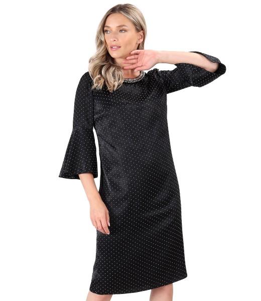 Rochie cu picouri din catifea in relief